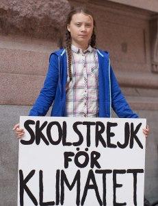 Greta Thunberg vor dem Schwedischen Parlament